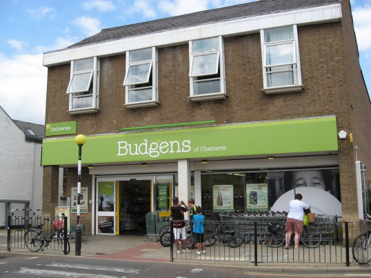 Budgens supermarket situated in the High Street, Chatteris. This shop was formerly Somerfield supermarket.