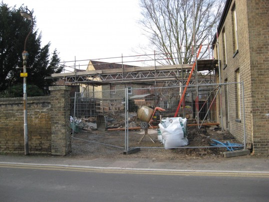 Outbuilings in Saint Martin's Road Chatteris, Barn now in the process of  demolition