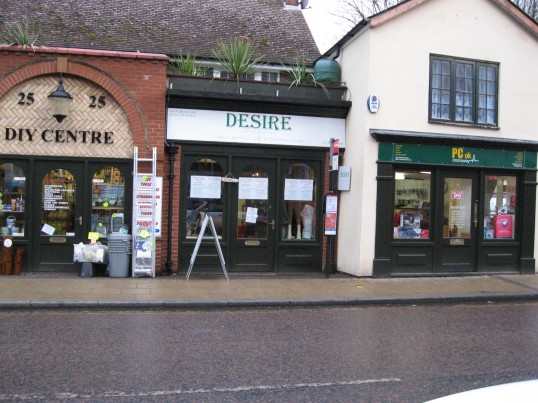 Shops - DIY, Desire, PC OK situated in the High Street Chatteris , this building was once  the White Lion pub.. The White Lion