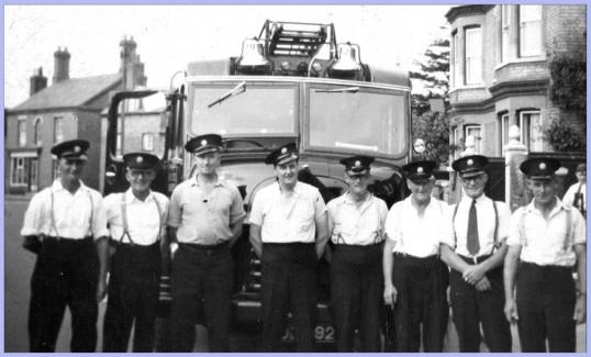 Firemen in East Park Street, Chatteris