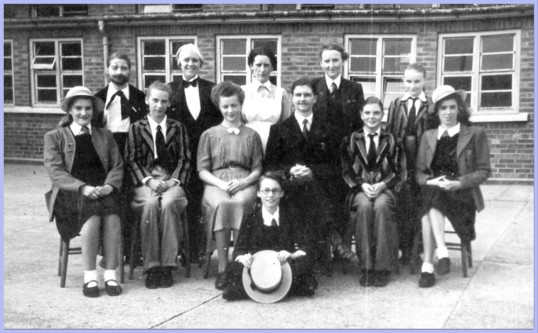Drama group at Cromwell School Chatteris,  in 'The Rising Generation'