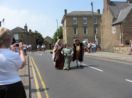 Councillor Peter Murphy,the Mayor of Chatteris walking i n the Chatteris Historic Festival Parade