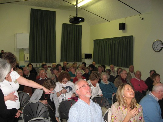 Chatteris Community Cinema, King Edward Centre. People taking their seats for the beginning of the opening night  première film 'Made in  Dagenham'