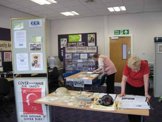The Historic Festival, CCan at the Library in the Vermuyden room ,exhibiting historic photographs of Chatteris. 'The display had a wartime theme'