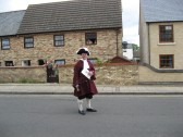 The Town Crier, ( James Carney) heading the Chatteris  Historic Festival Parade. Photographed in Furrowfileds Rd.