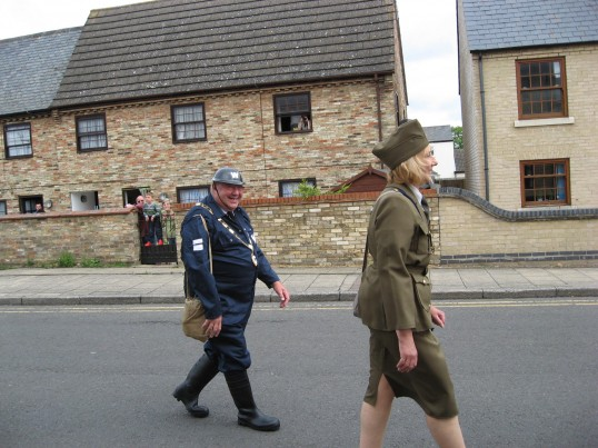 Councillor Peter Murphy and his wife Angela, in the Chatteris Historic Festival parade on Furrowfields Rd.
