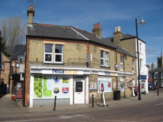Nisalocal, supermarket on corner of Park Street and Market  Hill, Chatteris