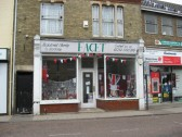 'Facet' Charity shop in High Street , Chatteris, window display for the Queens Diamond Jubilee