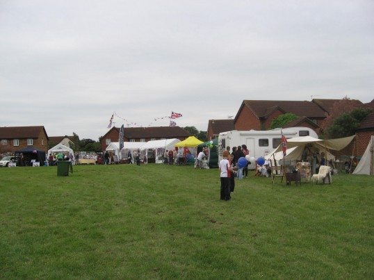 Chatteris Historic Jubilee festival at Furrowfields Recreation ground, stalls selling wares,  food and competitions for  visitors