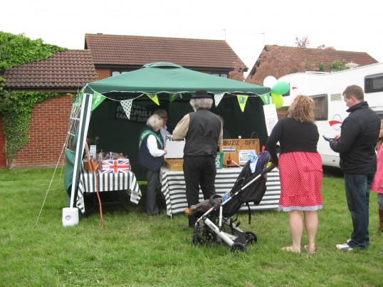 'MacMillan Cancer Support 'stall at the Chatteris Historic Jubilee Festival  , Furrowfields Recreation Ground
