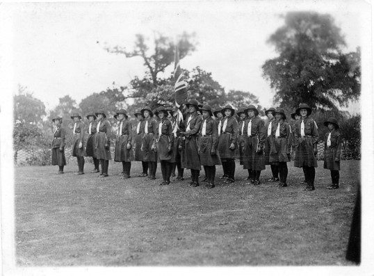 Chatteris Girl Guides on Parade