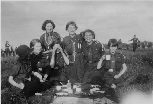 Chatteris Girl Guides camp at Chipping Park early 1930's