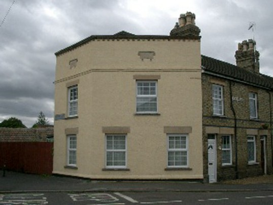 The house on the corner of Station Street and Rosemary Lane in Chatteris.