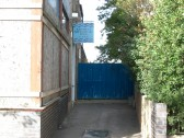 Entrance to the Empress Swimming Pool, home base of the Chatteris Kingfishers swimming club. This building was previously a Cinema.