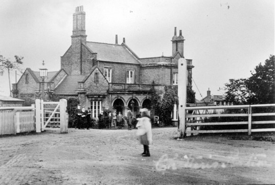 Entrance to Chatteris Railway Station - now demolished.