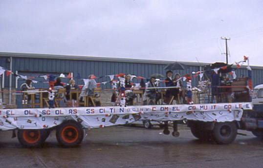 Cromwell Community College float. Chatteris Silver Jubilee  Photo by Mr E J Tilley