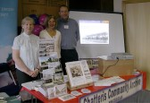 "Chatteris Archive presenters at 'Age Concern' ""Leisure for the elderly"" exhibition in March Town Hall.. International Day of Older People"