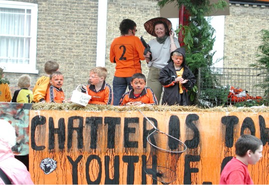 Chatteris Carnival 2004. Youth Football Club float (in all senses of the word)