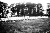 Children of King Edward School, Chatteris, at sports on Chatteris Engineering Sports Ground (Now site of Cromwell College) Wenny Road.