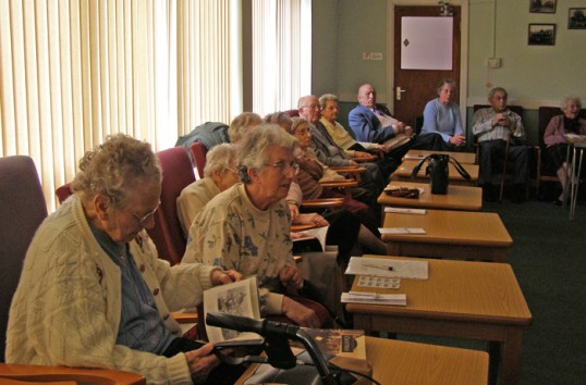 Local residents recall old Chatteris at ccan presentation to the 'Come and be heard' group meeting at Lyons Court Chatteris.