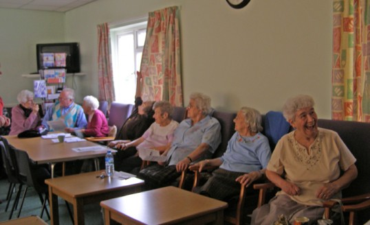 Guests relax at Chatteris ccan presentation to 'Come And Be Heard' group at Lyons Court, Chatteris.