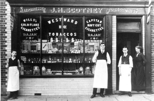Scotneys Tobacconist and Hairdressers, Park Street, Chatteris