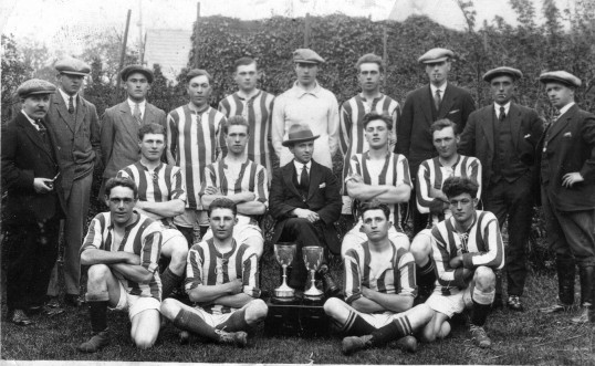 Chatteris Engineers Football Club, Fred Kirby left player at back. Photo loaned by Michael Fleet.