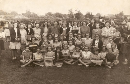 Chatteris Whit Monday Sports day. Field in Blackhorse Lane behind old workhouse. Photo from Gables resident.