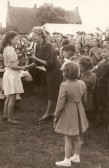Mrs Mayes presents cup at Chatteris Whit Monday Sports day. Blackhorse Lane field behind old workhouse. Photo from Gables resident.