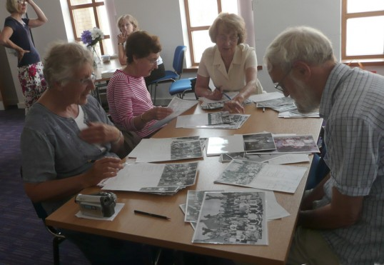 Chatteris residents bring back names from their past at the ccan presentation at Chatteris Historic Festival.