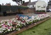 "1910 'Charles Cole of Chatteris' horse drawn plough returns to the town for the ""In bloom"" contest 2010."