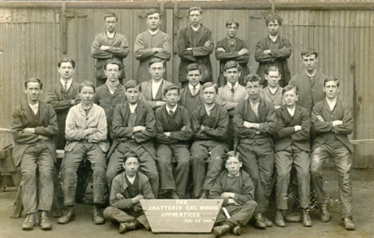 Engineer apprentices at Chatteris Engineers plant, Honeysome Road. Uploaded for Mrs Watkinson at ccan