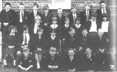 Class photo at Cromwell Secondary School, Chatteris. Donated to the museum collection by Mrs Lillian Brooks.