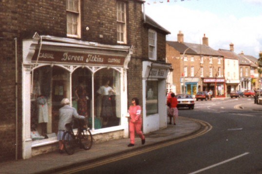 Doreen Atkins clothing store, 4 High Street Chatteris.  Bill Cooke photo.