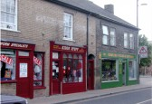 Kidds Stuff & Gowlers Cycle shops. 56 & 58 High Street Chatteris. .  Bill Cooke photo.
