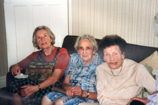 Party of over-90 year old friends in Chatteris. Photo from Alan Rickwood in 2010.