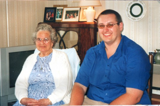 Guests at Chatteris party of over-90 year old friends at the Rickwood house. Photo from Alan Rickwood 2010.