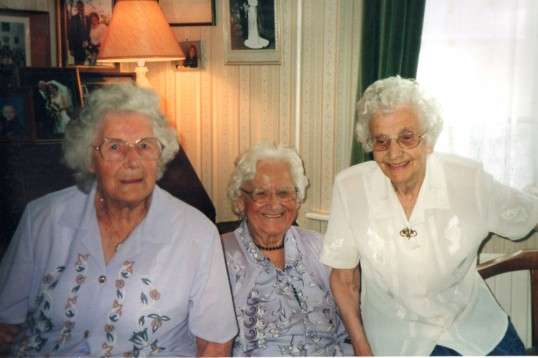 Guests at party of over-90 year old friends at the Rickwood house n Chatteris. Photo from Alan Rickwood 2010.