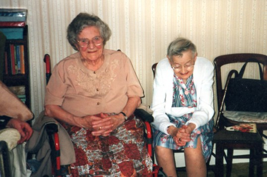 Over-90 year old friends at a party in Chatteris. Photo from Alan Rickwood.