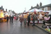 Santa inspects the fair in Market Hill, Chatteris before the Christmas lights are switched on.