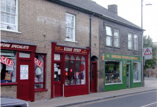 Kidds stuff and Gowler Cycles & Giftware, 56 to 58 High Street, Chatteris. Bill Cooke photo.