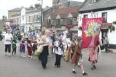 Glebelands children walk in the Chatteris Historic Festival parade through Market Hill.
