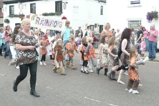 Rainbow Club children walk in the Chatteris Historic Festival parade.