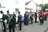 The Militia at ease before the Chatteris Historic Festival parade.