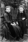 2 unidentified girls. From C Pope collection of Chatteris photos found among post card lot at auction in 2011