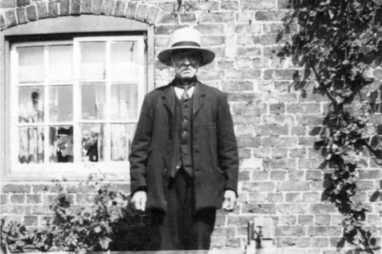 Elderly gent. From C Pope collection of Chatteris photos found in 2011. Possibility of being Joshua Kirby.