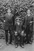 George Clare VC of Chatteris on right of 2 unidentified men. Photo in collection of Sansom family with whom he lived prior to WW1.