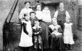 George Clare VC of Chatteris with family assumed to be Sansom / Smiths in Rosemary Lane. Photo with Sansom descendants.