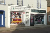 2012 photo of Chatteris High Street shops decorated for the Queen Elizabeth 2 Diamond Jubilee.