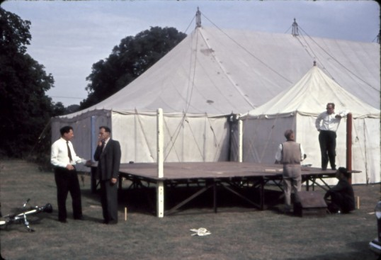 Chatteris Trade Fair. Stage  being erected for event.Photo supplied by Mr E J Tilley